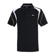 rib collar logo embroider high quality POLO shirt