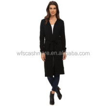 spring ladies wholesale high quality 100% cashmere long cardigan women