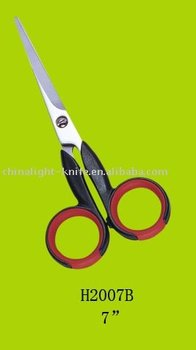 stainless steel hair scissors with soft grip handle