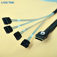 SFF 8087 Mini sas cable to esata cable 36P to 4 SATA 7P with latch lock