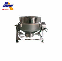 200l/time stainless steel steam jacket kettle for fruit jam ,electric 200l jacketed kettle ,soup boiling pot
