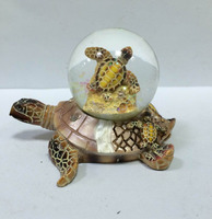 polyresin turtle water globe