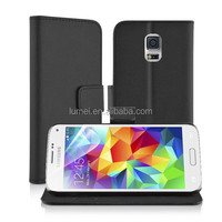 Genuine Leather Wallet With Stand Card Slots Phone Case Cover For Samsung Galaxy S5 Mini