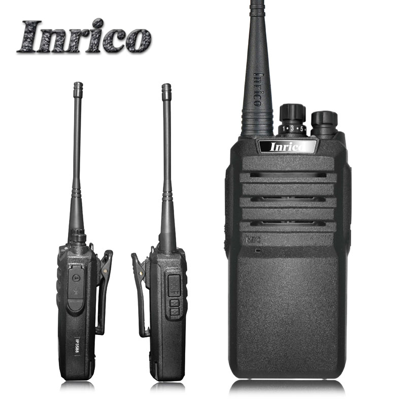 High Quality Inrico IP3588 3-8km 5W 16 Channels IP67 waterproof VHF UHF 2 way radios