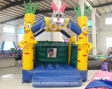 2015 different design colorful good selling kids cheap rabbit inflatable bouncy house for sale