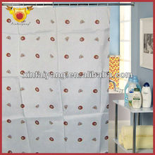 Charm Dot Printed Bath Drape Wholesale Ready Made Curtain