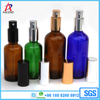 50ml 100ml amber aerosol spray glass essential oil bottle