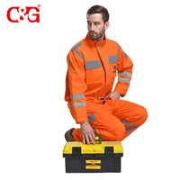 mens construction safety workwear clothing orange color