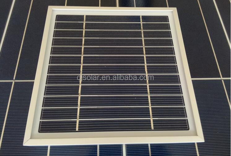 Mini Solar Panel with Aluminum Frame/High Efficient PV Panel /3w PV Module Small Solar Panel with Low MOQ