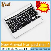 New Aluminum Wireless Bluetooth Keyboard Stand Case Cover For ipad Mini 4 usb keyboard to bluetooth adapter