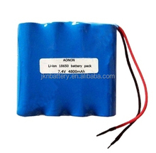 18650 7.4V 4800mAh lithium battery pack lithium ion battery
