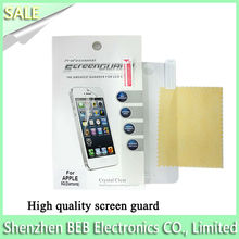 Alibaba verified clear screen protector for Apple iPhone5/5S/5G