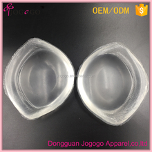 clear soft artificial silicone bra inserts 2 cup sizes silicone water bra pad for swimming