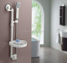 The bathroom rack with shower head rack and plastic pallet&bathroom rack with suction cup&adjustable shower head holder