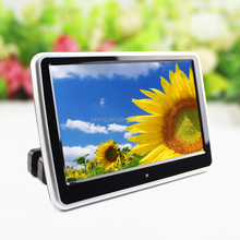 10 inch Active Slot in Car Headrest DVD Player with FM Transmitter/IR/USB/SD/Wireless Game