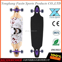 2016 hot sale BAMBOO DROP THROUGH THRU LONGBOARD SKATEBOARD COMPLETE 9.5 in X 42 in