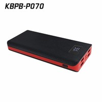 High capacity 18000mAh digital display power bank with 8pcs lithium battery