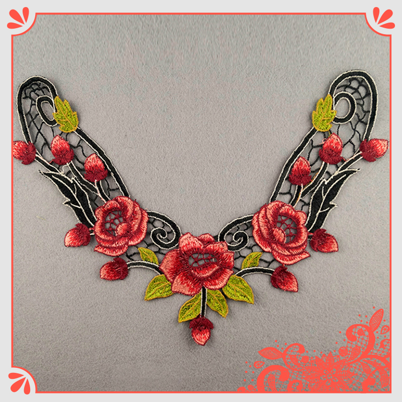 Best Seller Colorful Flowers Embroidery Lace Trim
