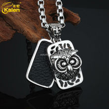 Big Eye Owl Shaped Stainless Steel Pendant For Best Friend