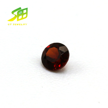top quality 2.5mm round shape red rough Garnet Loose gemstone