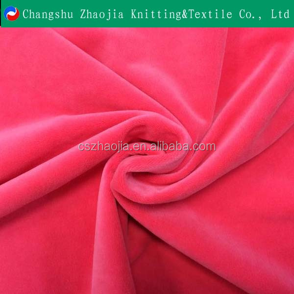 china knitting textile factory 100% polyester comfortable velvet/ beibei fleece for baby