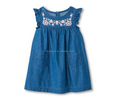Toddler Girls' Chambray Dress Indigo Blue