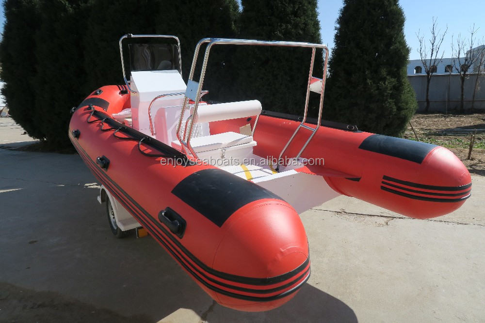 Inflatable fiberglass boat RIB-540 with CE certificate fiberglass rowing boat for sale!!!
