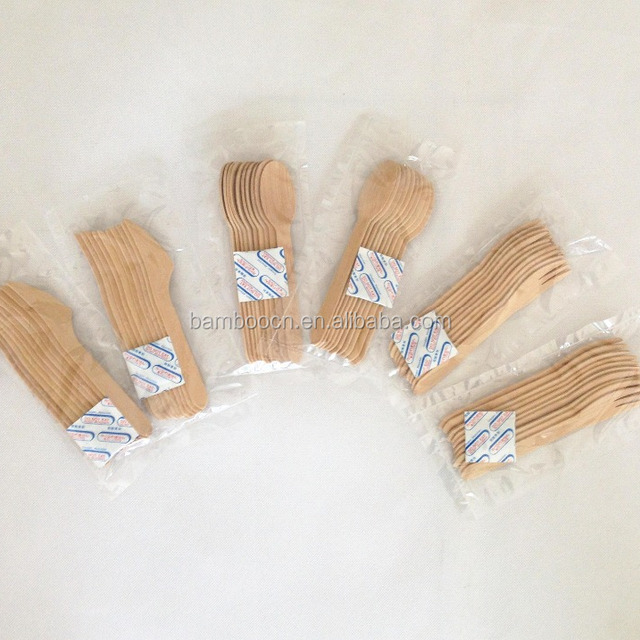 Disposable Bamboo Cutlery, Biodegradable Bamboo Tableware Knife Fork Spoon