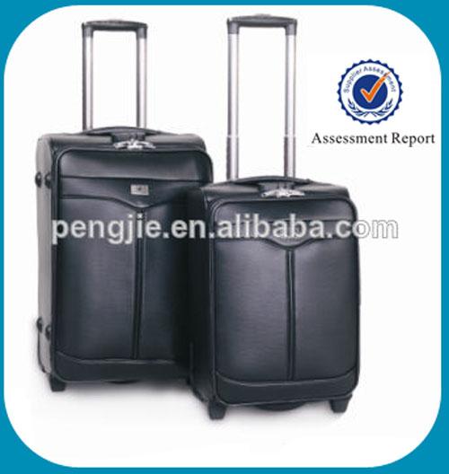 Best price black leather travel trolley bags & luggage bags