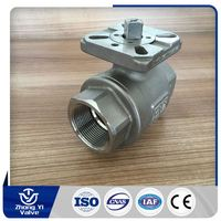 2-piece flanged ball valves asme cf8m 1000wog 4 inch ball valve from china supplier