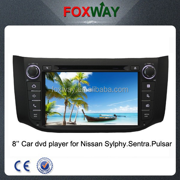 Factory OEM 8'' touch screen double din car radio car dvd gps system for nissan sylphy