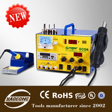 YAOGONG Low price 909S hot air smd rework soldering desoldering station with ceramic heater element soldering iron