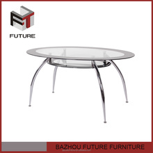 New design dining room round glass old style furniture
