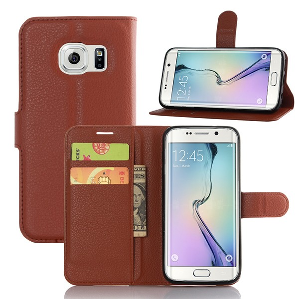 S7E002 Factory Supply Magnet Flip Mobile Phone Leather Case for Samsung Galaxy S7 Edge