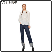 Wholesale sexy white woman blouse modern stylish comfortable fashion lace ladies top clothes