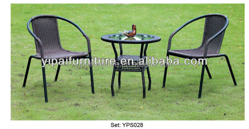 glass tea table wicker chair outdoor furniture YPS028