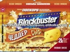 Exclusive Labels Snack Food Cheddar Microwave Popcorn