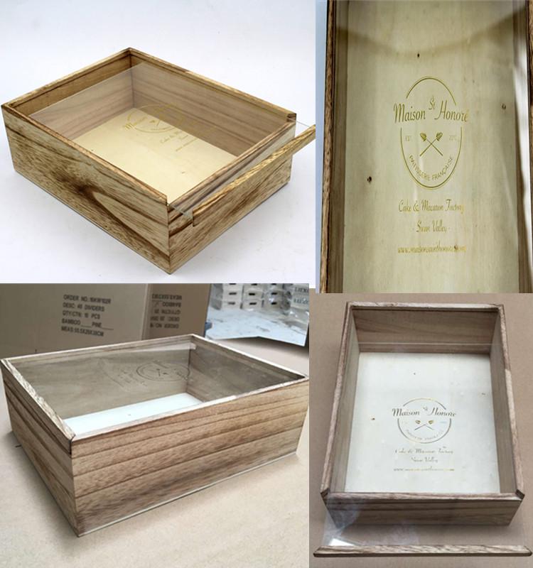 natural pine wood gift packaging box wooden box