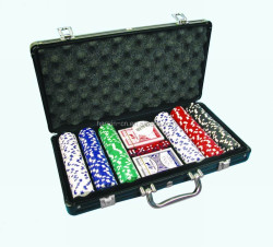 Professional Casino 300 Custom deluxe aluminum case poker chip set