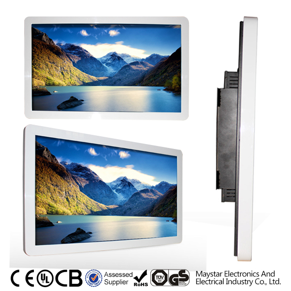 Wall mounted wireless 3g internet touch digital led display