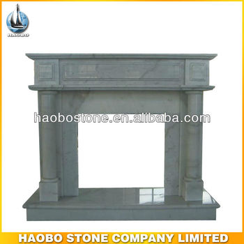 White Cheap Marble Fireplace