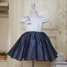 Stock Supply! Factory price royal blue flower girl dress patterns of 3 years old for wedding