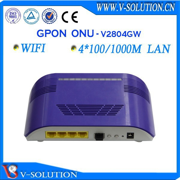 4GE+ 2FXS + RF + WIFI Triple Play GPON ONU Wireless Support TKIP Encryption