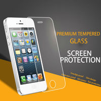 Low Price $1/Price Mobile Phone Premium tempered glass screen guard for iPhone 5 iPhone 5c iPhone 5s accessories