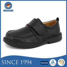 High Quality Customized Wearable No Lace Artificial Leather Students Shoes for Boys