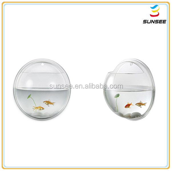 acrylic aquarium, wall mounted acrylic Fish Bowl , Led light optional. EE-018
