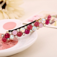 New Fashion Women Exquisite Crystal Rhinestone Barrette Hair Clip Hair Accessory