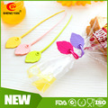 Custom Creative leaf shape silicone food bag sealing clamps keep fresh