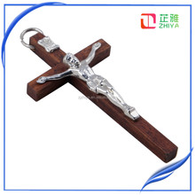 wooden crucifix, wood cross with jesus statue on, wooden wall cross