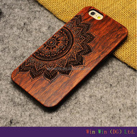 2015 wood carving case for iphone 6 Carved bamboo Wood Mobile phone wood cases for smartphone